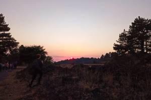 tramonto dalla cima dell'Etna
