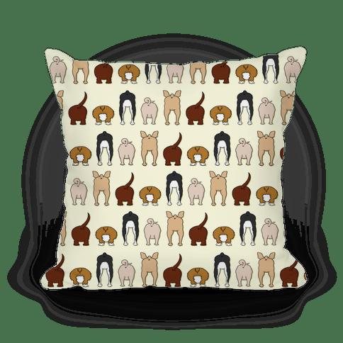 dog butt pattern pillows lookhuman