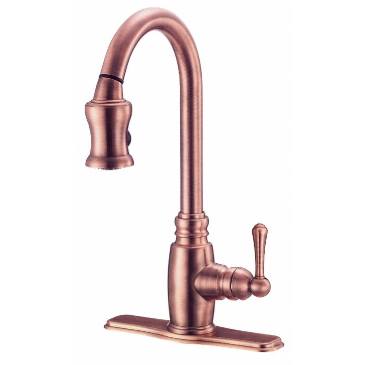 Danze Opulence Antique Copper Pull Down Kitchen Faucet