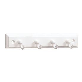 Brainerd 4-Hook White Key Rail