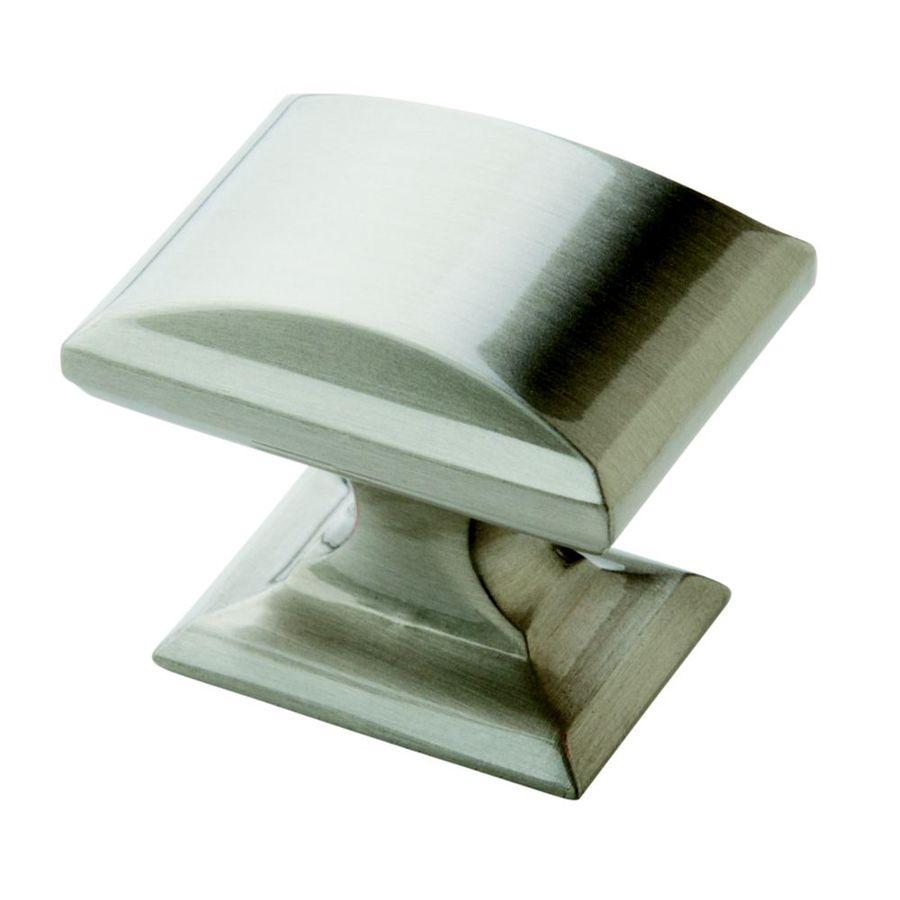 Shop Amerock Candler Satin Nickel Rectangular Cabinet Knob