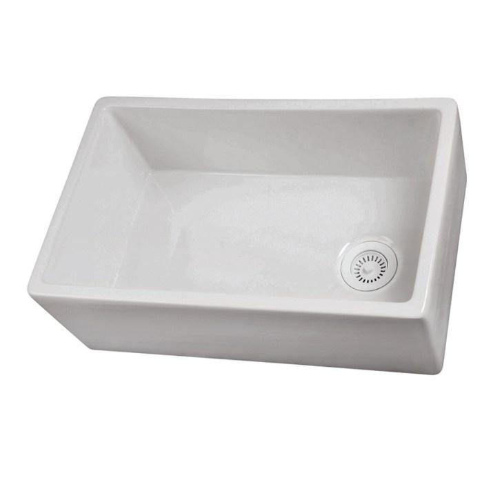 Single Basin Apron Front Farmhouse Fireclay Kitchen Sink