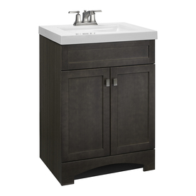 Shop Bathroom Vanities with Tops at Lowes com Display product reviews for Drayden Gray Single Sink Vanity with White  Cultured Marble Top  Common