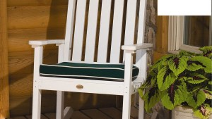 Shop Highwood USA White Wood Slat Seat Outdoor Rocking