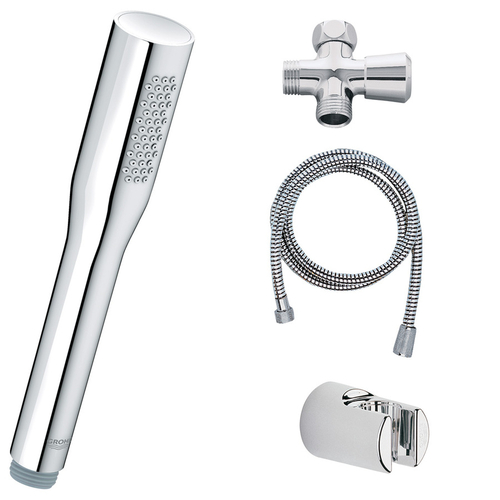 Zoomed: GROHE StarLight Chrome Vitalio Convertible Showerhead