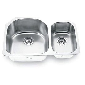 Yosemite Home Decor 18-Gauge Double-Basin Undermount Stainless Steel Kitchen Sink