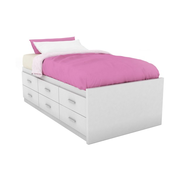 ... Sonax Willow Frost White Twin Platform Bed with Storage at Lowes.com