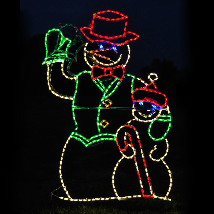 Led Snowman Outdoor Lights Figures