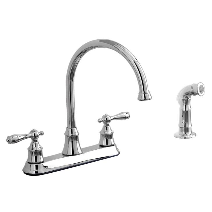 Shop Aquasource Chrome Handle High Arc Kitchen Faucet Side