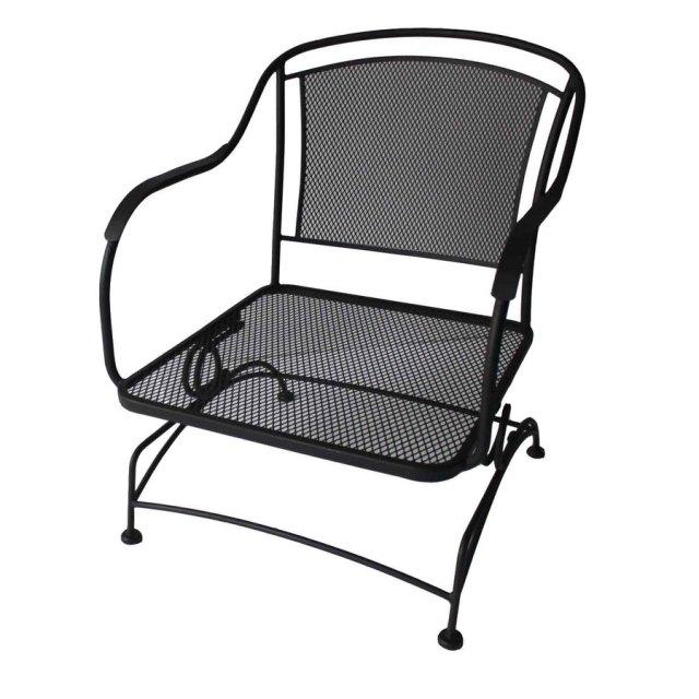 Shop Garden Treasures Set Of 2 Davenport Black Steel Mesh Seat Patio ...