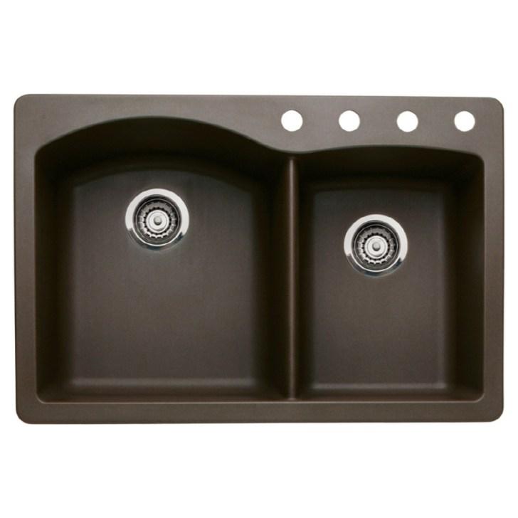 Double Basin Granite Drop Undermount Kitchen Sink