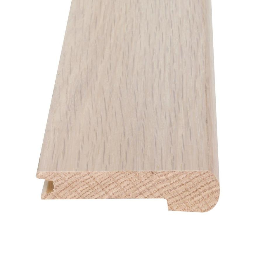 Flexco Solid Wood Stair Nose 2 75 In X 78 In French Oak Terassa   French Oak Stair Treads   White Oak Flooring   Ponte Vedra   Railway Sleepers   Stair Nose   Wide Plank Flooring