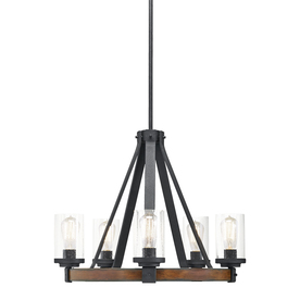 Kichler Barrington 24 02 In Rustic Clear Glass Candle Chandelier