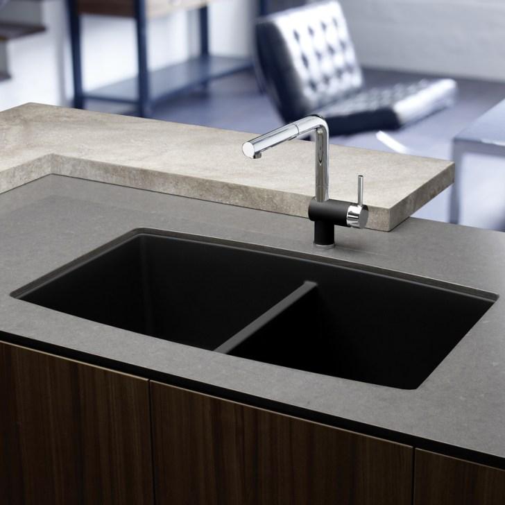 Anthracite Double Basin Granite Undermount Kitchen Sink