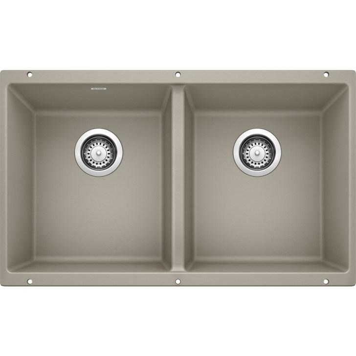 Precis Double Basin Undermount Granite Kitchen Sink
