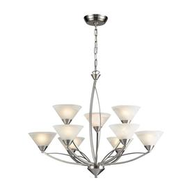 Display Product Reviews For Beckett 34 In 9 Light Satin Nickel Candle Chandelier
