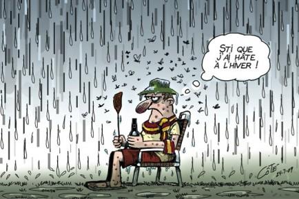 Plume l'a chanté : «C'est la faute à El Nino». Mais pas cette fois. Le grand... (Le Soleil, André-Philippe Côté)