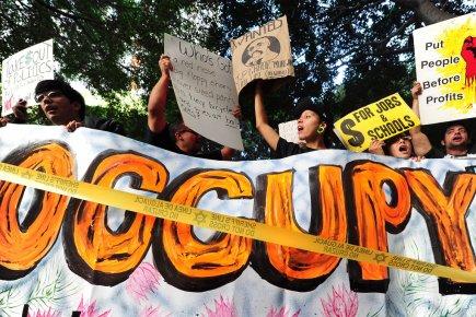Le mouvement Occupy appelle de nouveau à la... (Photo AFP)