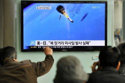 «Quelques minutes après le lancement, la fusée s'est... (Photo: Yung Yeon-Je, AFP)