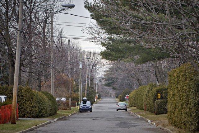 C'est dans une maison de cette rue à... (Photo: Patrick Sanfaçon, La Presse)