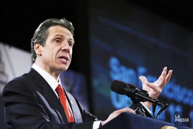 Le gouverneur de l'État de New York Andrew... (PHOTO PHILIP KAMRASS, REUTERS)