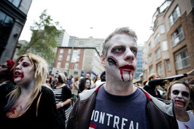 La Grande Marche des Zombies de Montréal, en... (Photo: Marco Campanozzi, La Presse)