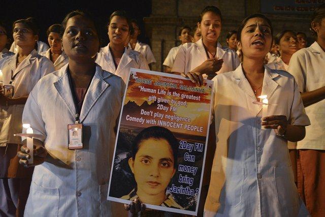 Des étudiantes en soins infirmiers en Inde ont... (Photo: archives Reuters)