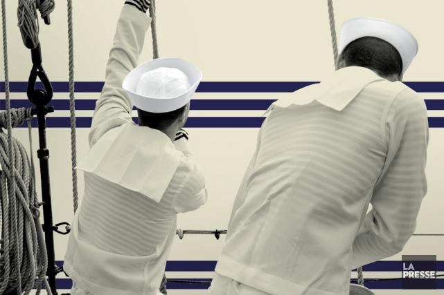 Comment les rayures ont-elles franchi le pas du vêtement de matelot à l'univers... (Photo La Presse)