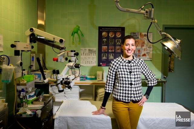 La Dre Annie Lapointe, oto-rhino-laryngologue à Sainte-Justine et... (Photo Alain Roberge, La Presse)