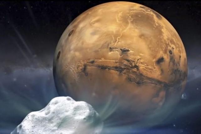 À 14h27, la comète «s'est approchée au plus... (Illustration NASA)
