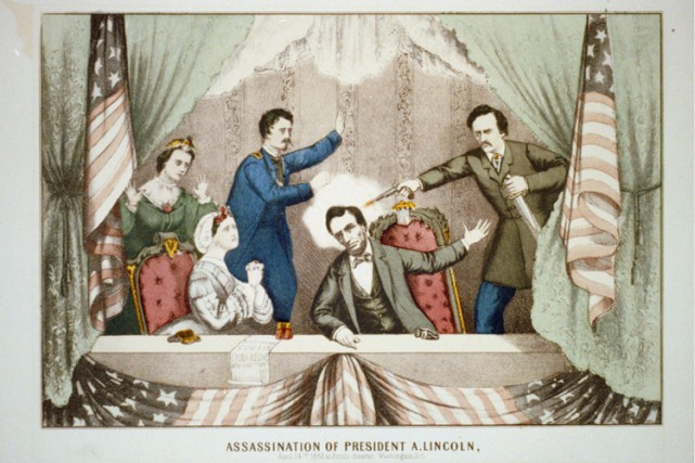 Une lithographie de l'assassinat imprimée par Gibson &... (Archives Reuters)