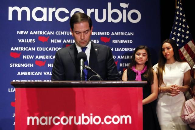 Se disant «déçu» de l'establishment républicain, Marco Rubioa... (PHOTO AP)
