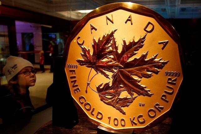 Une pièce identique à celle-ci, exposée à Vancouver... (Chris Helgren, archives REUTERS)