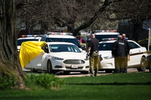 La Ford Fusion dans laquelle s'est suicidéSteve Stephens... (PHOTO REUTERS)