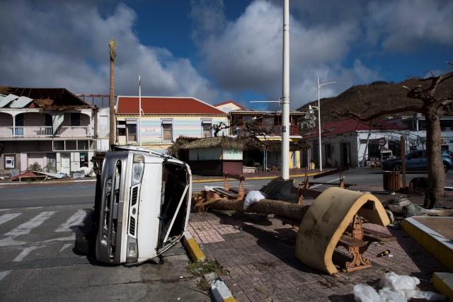 La ville de Marigot, à Saint-Martin, a été... (PHOTO Martin BUREAU, AFP)
