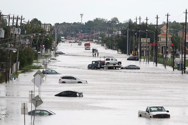 L'ouraganHarveyqui a provoqué des précipitations de 1,27mètre d'eau... (AFP)