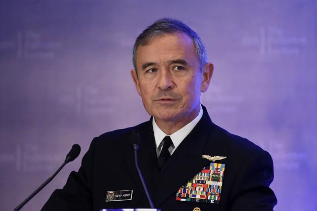 HarryHarris, chef des forces américaines dans la zone... (Photo Roslan RAHMAN, archives Agence France-Presse)