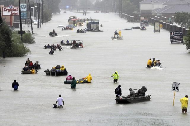 Les trois ouragansHarvey,IrmaetMaria, qui se sont abattus sur... (AP)