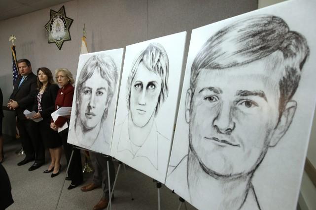 Des illustrations censées représenter le suspect ont été... (ARCHIVES AP)