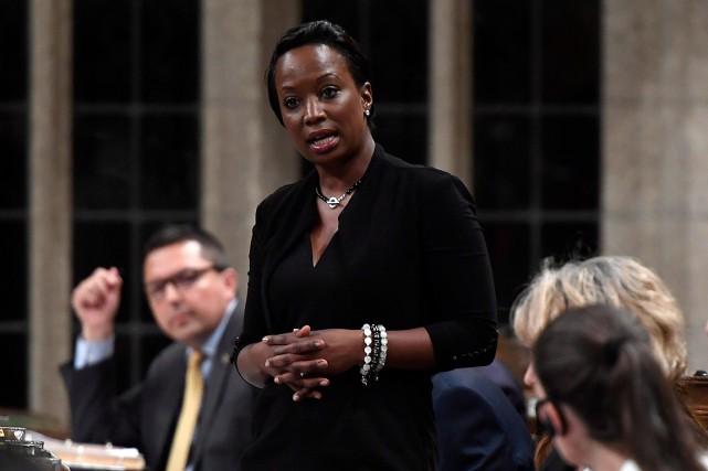 La député libérale Celina Caesar-Chavannes... (PHOTO JUSTIN TANG, LA PRESSE CANADIENNE)