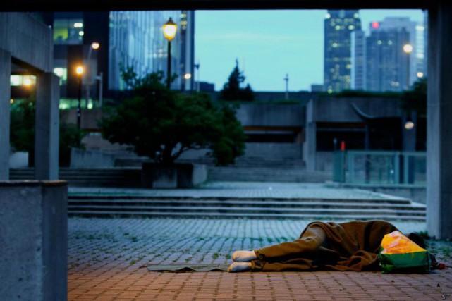 Selon une nouvelle étude, les sans-abri qui dorment... (Photo MarcoCampanozzi, Archives La Presse)