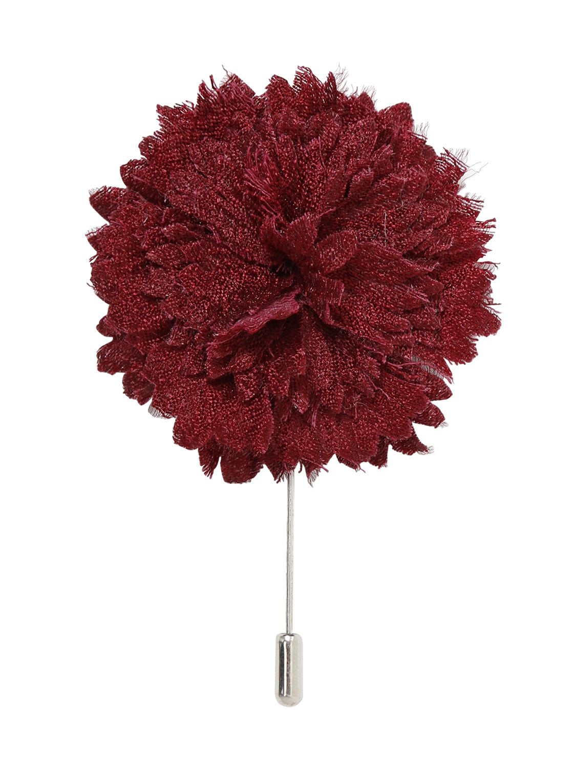 Men's Lanvin flower pin in red wool felt