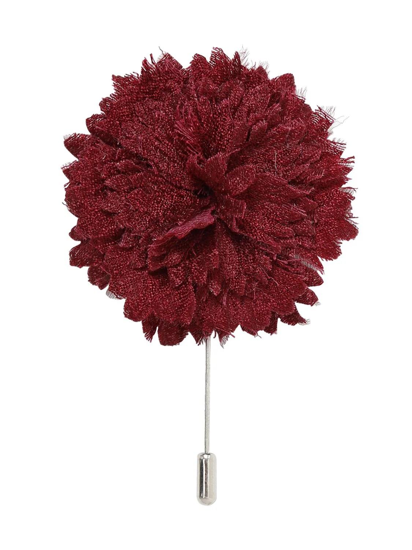Men's Lanvin flower pin in red wool felt