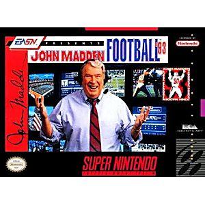 John Madden Football 93 SNES Super Nintendo