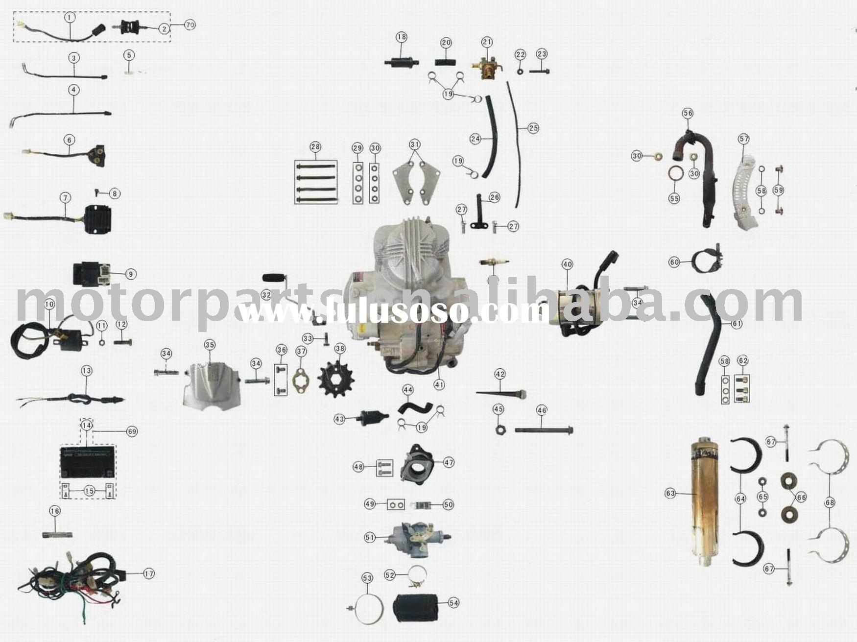 49cc Pocket Bike Engine Parts