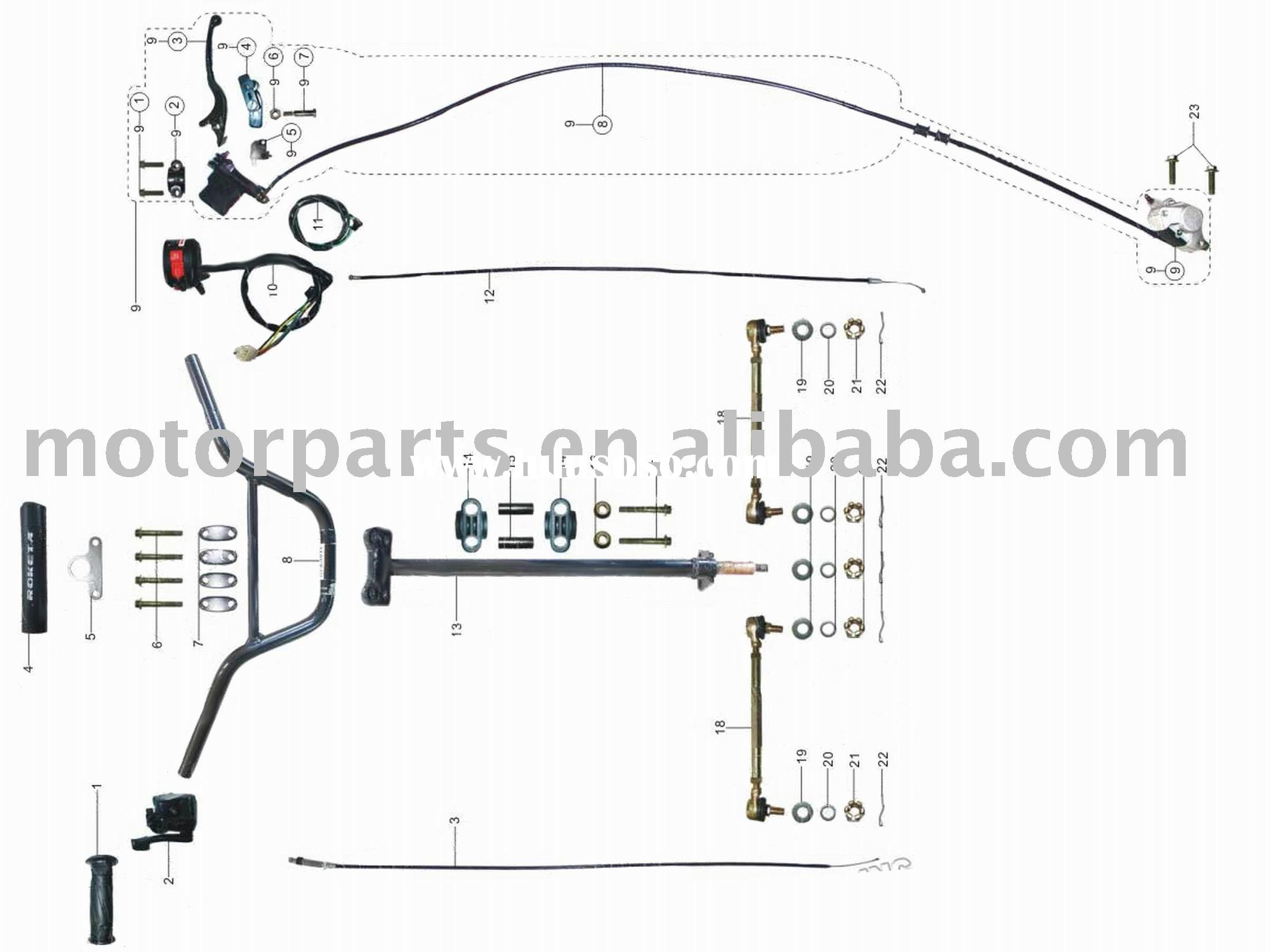 Honda Ruckus Parts Diagram besides Taotao 50cc Ignition Switch Wiring Diagram in addition 8 Pin Cdi Wiring Diagram besides Chinese 4 Wheeler Wiring Diagram further Flathead engine. on 50cc scooter wiring d…