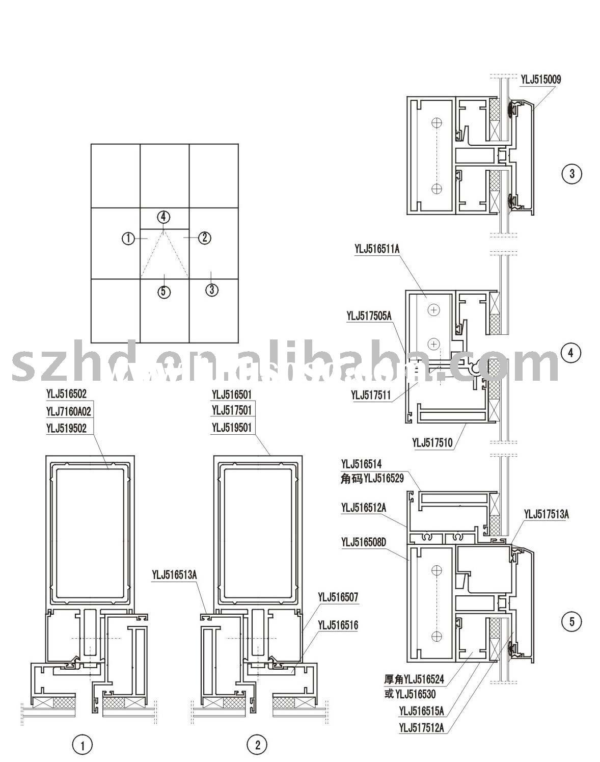 Curtain Wall Construction Details Dwg