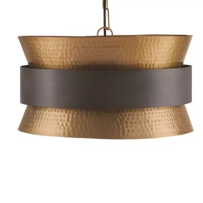 metal hourglass drum pendant light