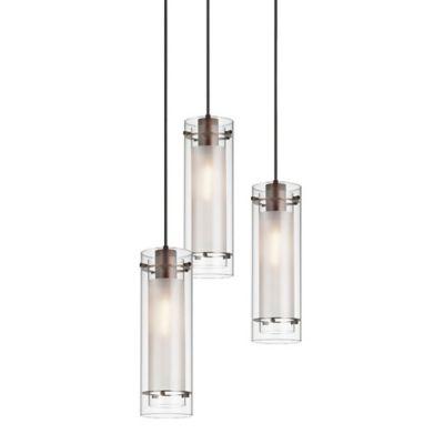 3 light round multi light pendant