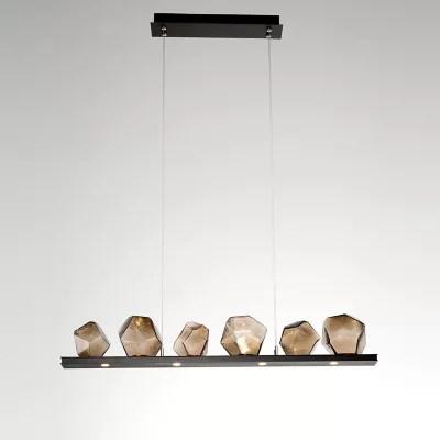 gem bezel led linear suspension